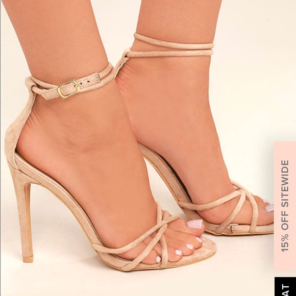 0c4d4d0f70 DAMITA NUDE SUEDE ANKLE STRAP HEELS from Lulu s